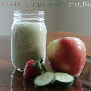 Strawberry Apple Green Smoothie.