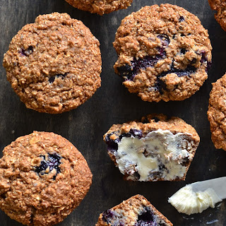 Vegan Blueberry Bran Muffins
