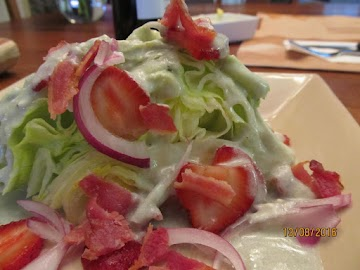 Iceberg Wedge Salad With Strawberries Recipe