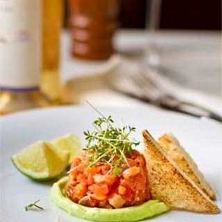 Salmon Tartare with Avocado Cream