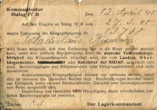 Photo: 1940 r. - Komendant obozu w Niemczech informuje P.Aniele Bienias o pobycie męża w obozie.str.2.