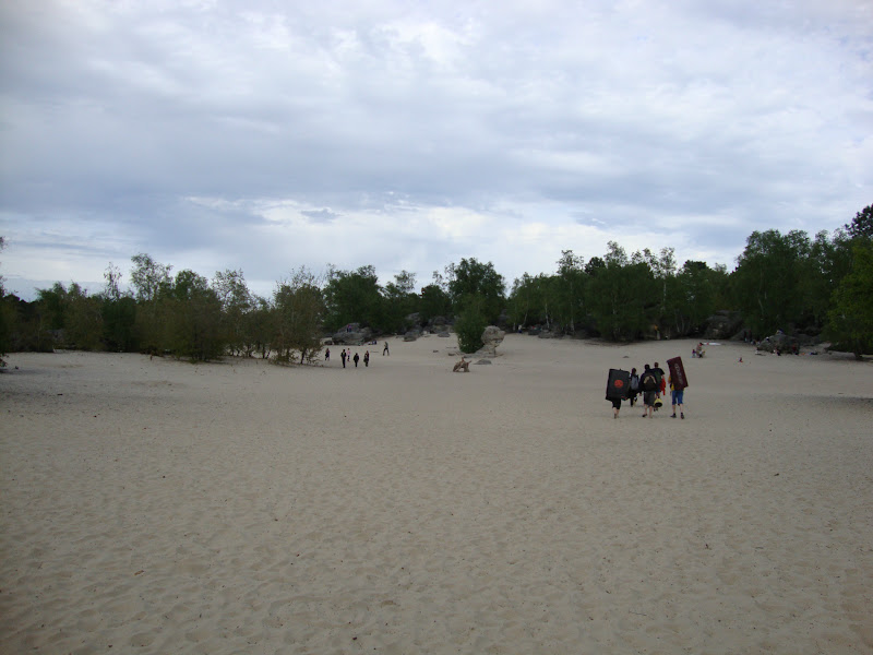 Photo: Inland beach at the Cul De Chien, part of the Trois Pignons area of the Forest of Fontainebleau, France