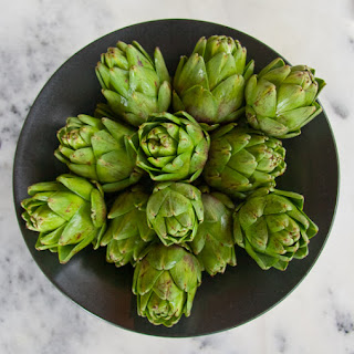 Grilled Marinated Baby Artichokes
