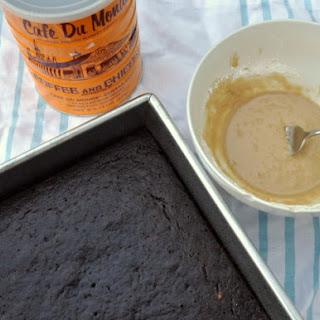 Chocolate Banana Cake with Chicory Glaze.