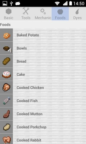 android Crafting Recipes Screenshot 3