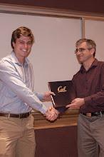 Photo: Daniel Paden Tomasello accepting the Jim and Donna Gray Endowment Award.