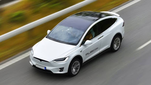 The Tesla Model X all-electric SUV,  2021 performance edition.