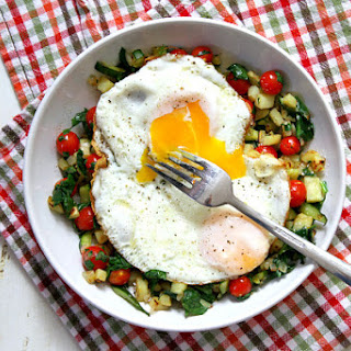 Sweet Potato Hash with Perfect Fried Eggs