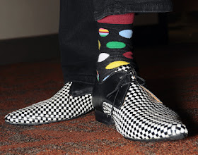 Photo: Check out the shoes for the Saturday night dance - and the polka dot socks!