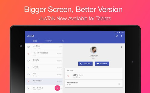 JusTalk - free video calls and fun video chat app- screenshot thumbnail