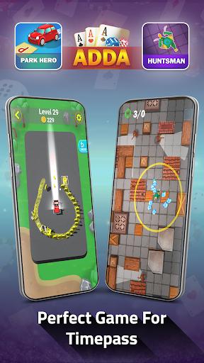Adda : Rummy , Callbreak ,Solitaire & 29 Card Game modavailable screenshots 11