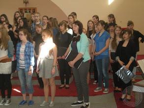 Photo: Chór PG 20 - przygotowania do występu w cyklu koncertów oratoryjnych