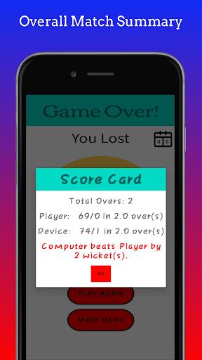 Hand Cricket 1.2 screenshots 8