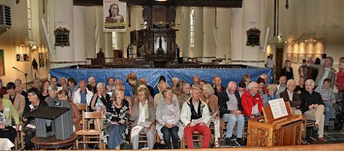 Photo: Afsluiting van het zes weken durende Barbarafestival op 8 juli 2016 met een orgelconcert door Marijn Slappendel en Jeroen van Kleef, en tevens onthulling van het gerestaureerde doophek. - Foto's Dik Hooijer
