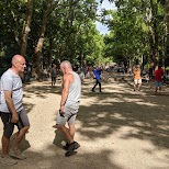 jeu de boule in Paris, Paris - Ile-de-France, France