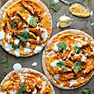 Chicken Shawarma with Hummus & Pita.