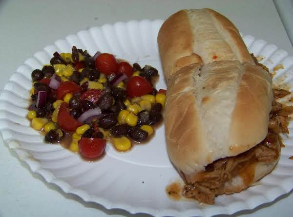 Shown With A Pulled Pork Sandwich