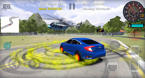 Realistic Car Racing Drift Game Civic captures d'u00e9cran 2