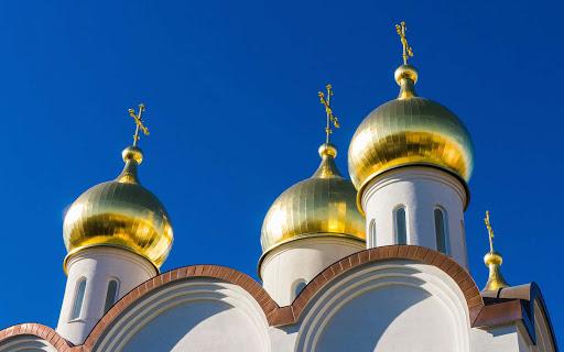 A Greek Orthodox church in Moscow.