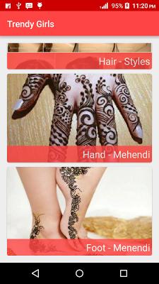 Hair styles,Nail Paint,Mehendi - screenshot