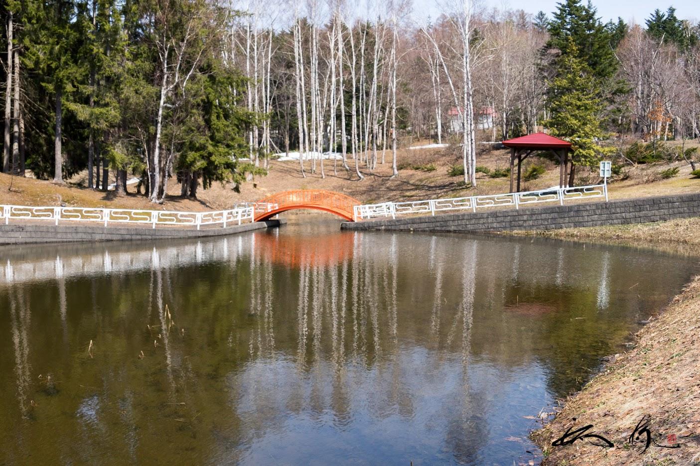 北竜町金比羅公園池
