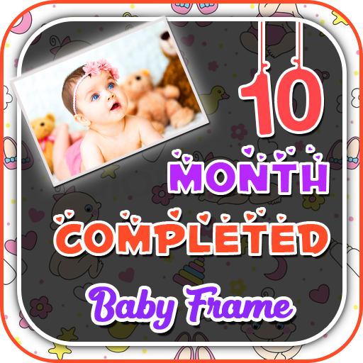 10 Month Completed Baby Photo Frame