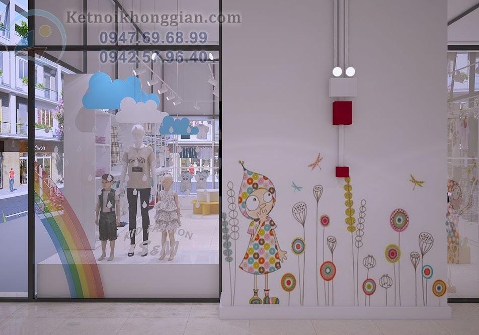 thiết kế shop mẹ và bé lạ mắt
