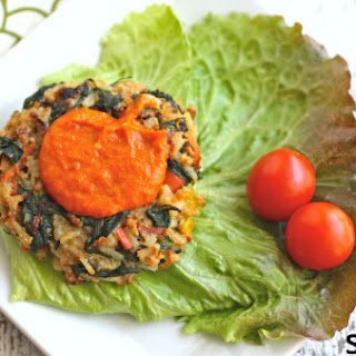 Walnut and spinach veggie burgers are just what your Meatless Monday needs