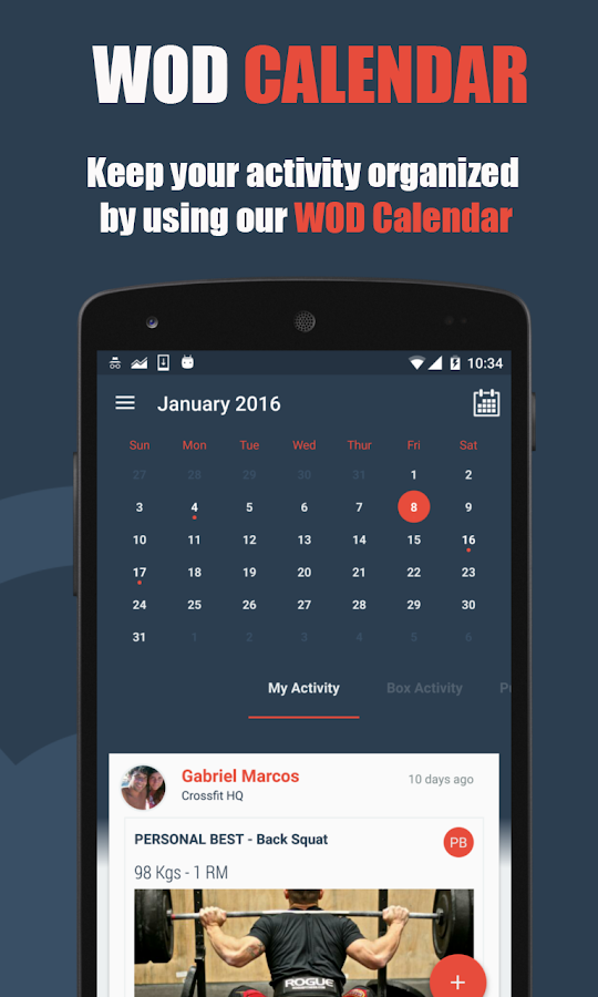 WODBook - Your WOD Tracker- screenshot