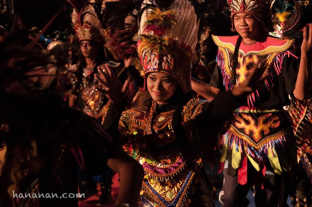 Salah satu penari Topi Ireng dari Kota Magelang.