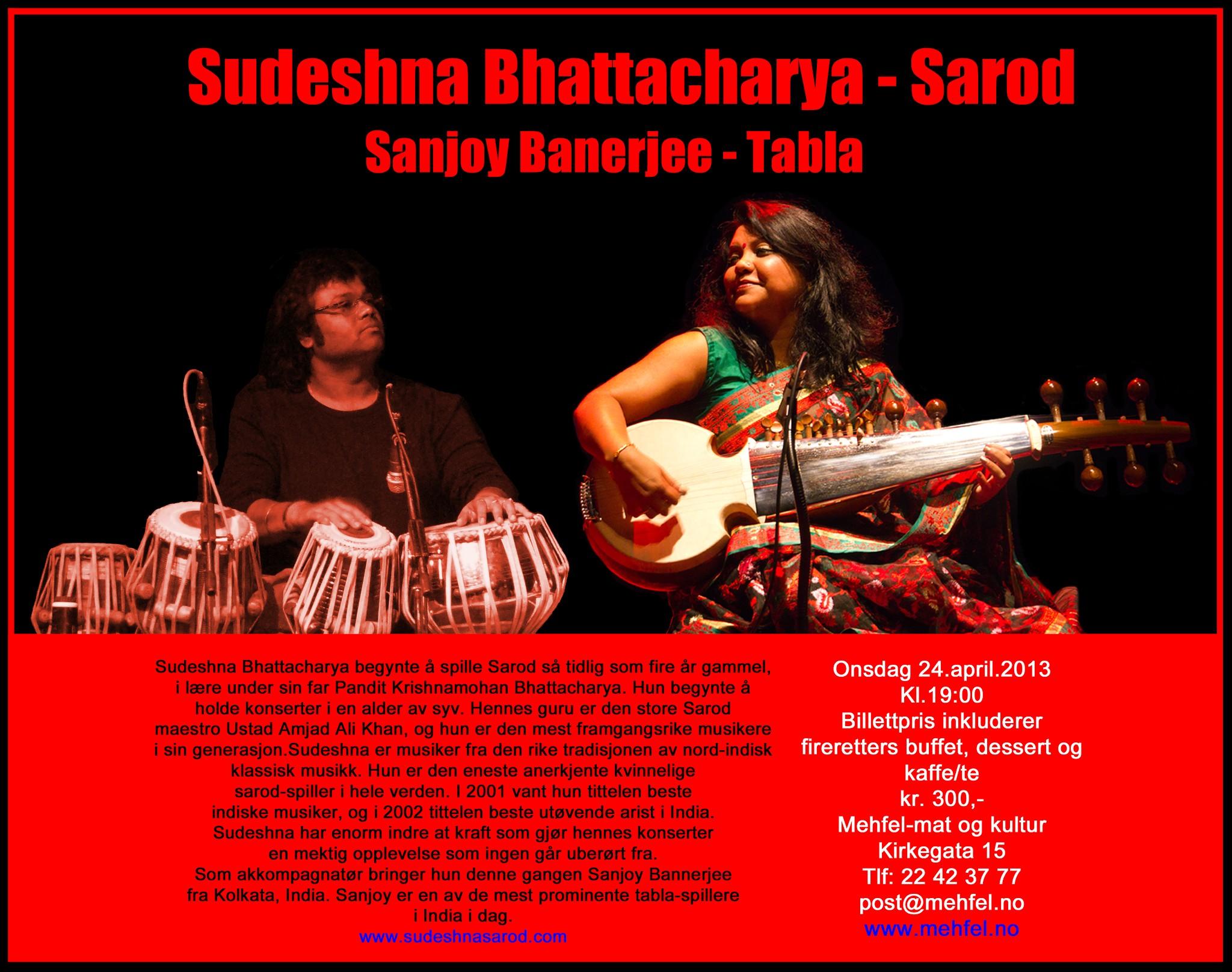 Photo: Sudeshna Bhattacharya - Concert Mehfel, Oslo Norway, 24 April 2013 - sabART