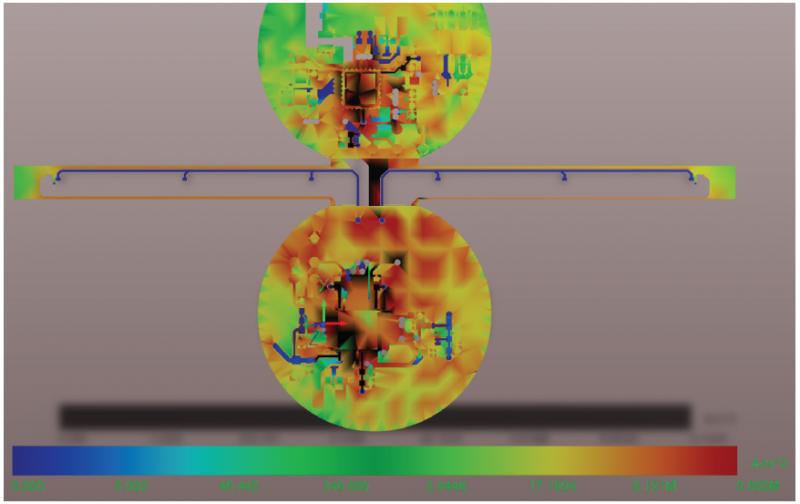 Current Density Plot on Rigid-Flex Design