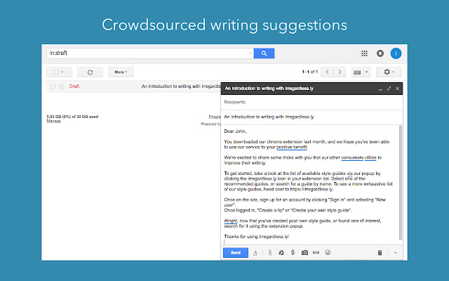 Writing Tips for Gmail from Irregardless.ly