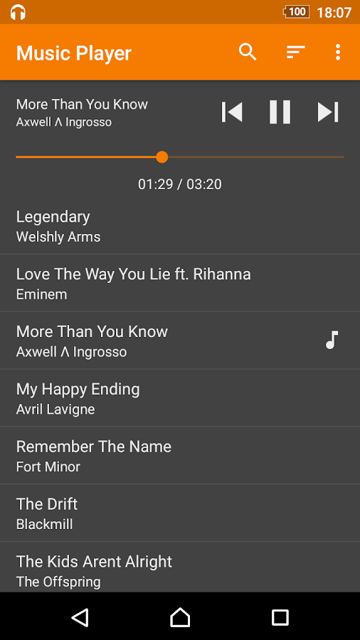 Simple Music Player- screenshot