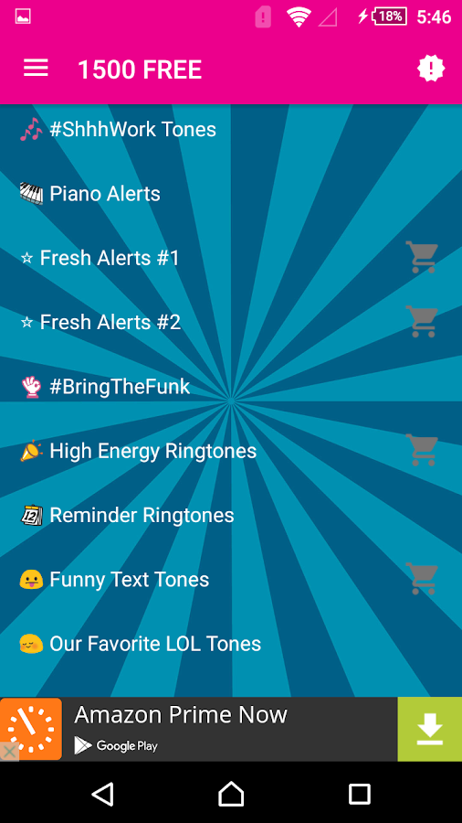 1500 Free Ringtones- screenshot
