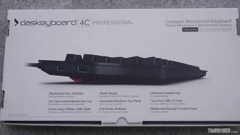 Đánh giá Das Keyboard 4C Professional: Thiết kế mỏng và sang trọng