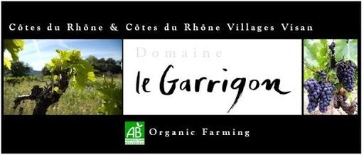 Tulette Visan Drôme Domaine Le Garrigon des vins biologiques et vegan, une gamme de Côtes du Rhône et Côtes du Rhône Villages Visan rouges, blancs et rosés AOP et IGP