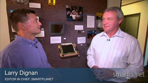 Photo: SmartPlanet editor-in-chief Larry Dignan interviews PARC CEO Mark Bernstein.