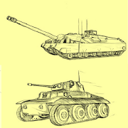 How to draw a tank with a pencil in stages
