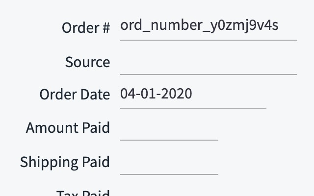 Shiphawk random order number extension