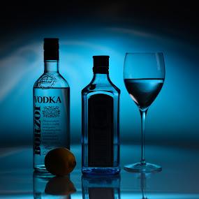 preparing for party  by Marjan Gresl - Food & Drink Alcohol & Drinks ( alcohol, glass, bottles, vodka, drinks )