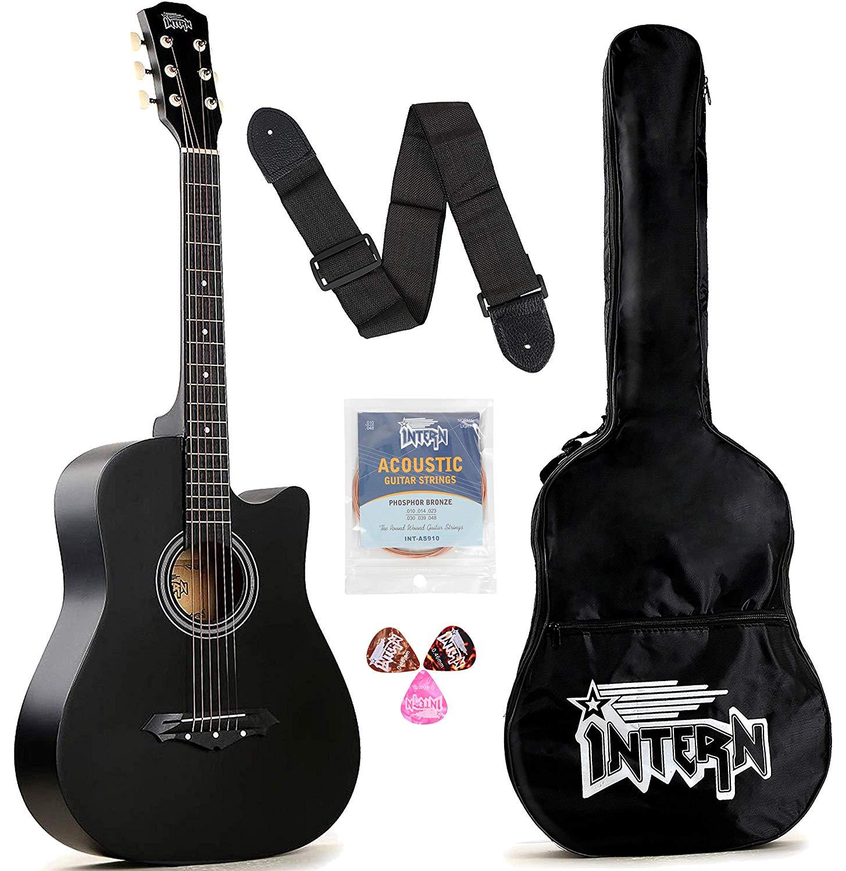 Intern INT-38C Black Acoustic Guitar Kit