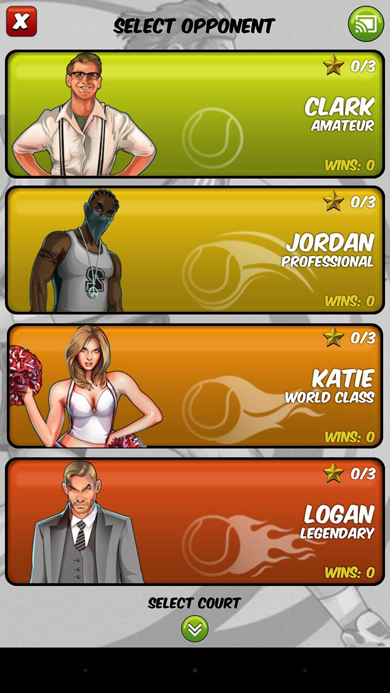 Motion Tennis Cast screenshot #5