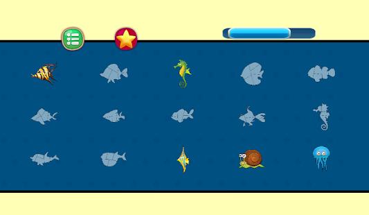 Hry pro děti Puzzles pro děti zvířata puzzle Fishy - náhled