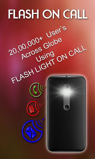 Flash Light on Call & SMS 1.2.1 screenshots 1