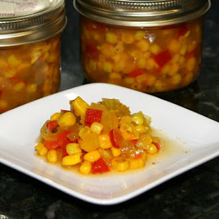 Sweet and Hot Corn Relish.