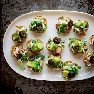 Tacito Salads ~ Mini Taco Salad Appetizer Bites.