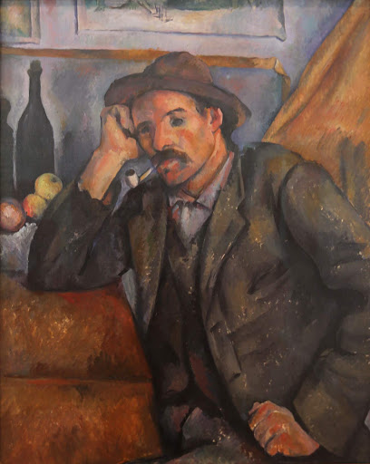"paul-cezanne-smoker.jpg -  Paul Cezanne, ""Smoker,"" 1890-92, oil on canvas."