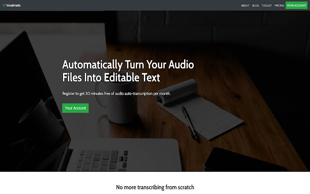 Vocalmatic: The Auto-Transcription Tool