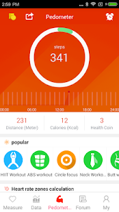 App Pedometer - Six pack Workout APK for Windows Phone